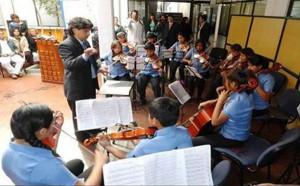 Ein Auftritt des Jugendorchesters